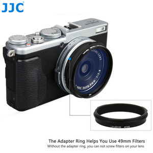 Image 4 - JJC LH X100 AR X100 מתכת עדשת הוד שמש צל עם 49mm מסנן מתאם טבעת עבור פוג י Fujifilm X100V X100F X100T x100S X100 X70
