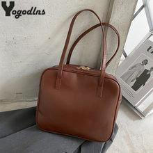 Torebki damskie Boston proste luksusowe torebki i torebki damskie moda markowa skóra ekologiczna torba z grubej bawełny damska torba na ramię o dużej pojemności