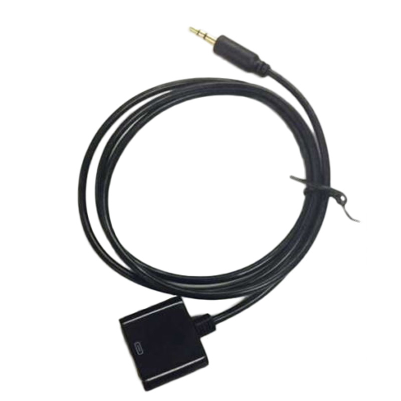 AUX 3,5mm Stecker auf <font><b>30</b></font>-<font><b>Pin</b></font> Weibliche <font><b>Dock</b></font> Adapter Kabel Konverter für Apple iPod iPhone <font><b>Dock</b></font> docking lautsprecher etc Adapter Kabel image
