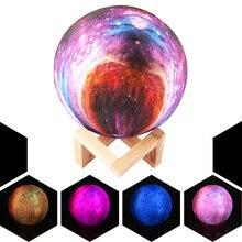 3d печать красочный романтический Звездный лунный светильник