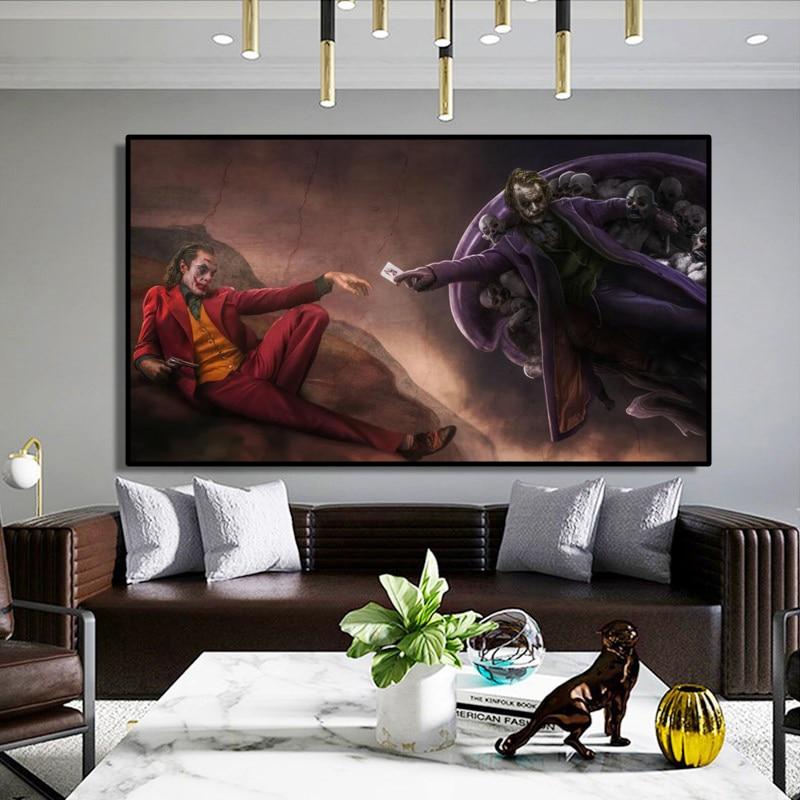 Oluşturulması Adam kopya Poster baskı Genesis duvar sanatı tuval yağlıboya joker yaratıcı sanat resimleri için oturma odası ev dekorasyon