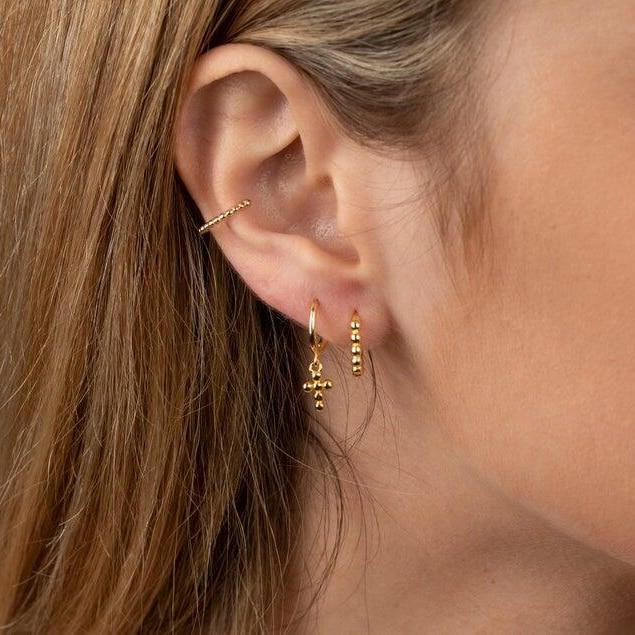 fine 925 Sterling Silver Simple Design minimalist stud Earrings For Women Gold silver mini huggie earring multi piercing jewelry
