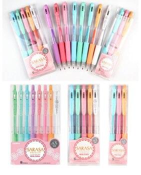 Zebra JJ15-MK Milk Color SARASA Clip press neutral pen Gel Ink Pen writing pen 0.5mm Japan 3/5/8 Colors Set Available