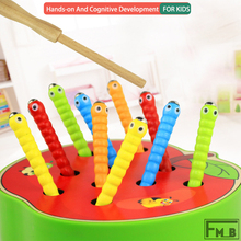 Wooden Catch Bug Game Early Education Magnetic Fishing Toy Montessori Toy For Preschool Kids magnetic wooden fishing game toy for toddlers alphabet fish catching counting preschool board games toys for 2 3 4 year old kids