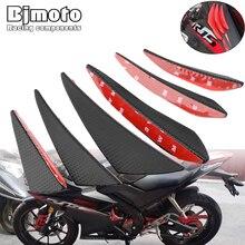 BJMOTO Motorcycle Front Fairing Aerodynamic Winglets w/Sticker For BMW Honda Yamaha Kawasaki Dynamic Wing Kit