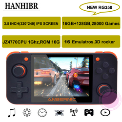 Nieuwe Anbernic RG350 Ips Retro Games 350 Video Games Upgrade Game Console Ps1 Game 64bit Opendingux 3.5 Inch 28000 + games Rg350