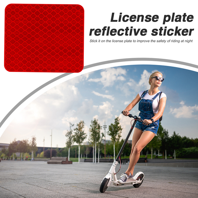 Rear Fender Mudguard Reflective Sticker Safety High Visibility Warning Tapes for Xiaomi Mi Electric Scooter Pro 2 2