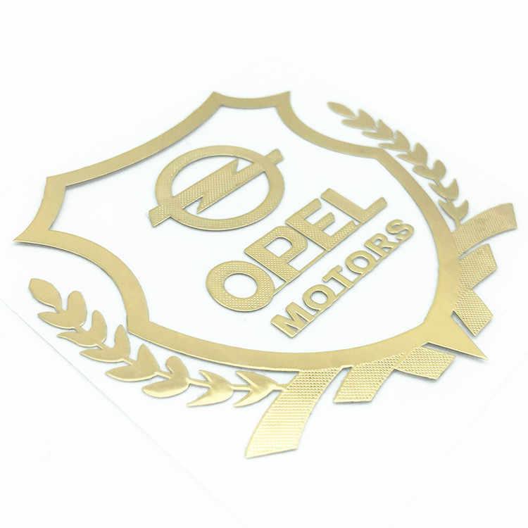 2 pièces Opel moteurs blé oreilles 3D métal voiture autocollants décalcomanie emblème Badge Logo pour voiture aile latérale aile arrière pare-chocs coffre accessoires