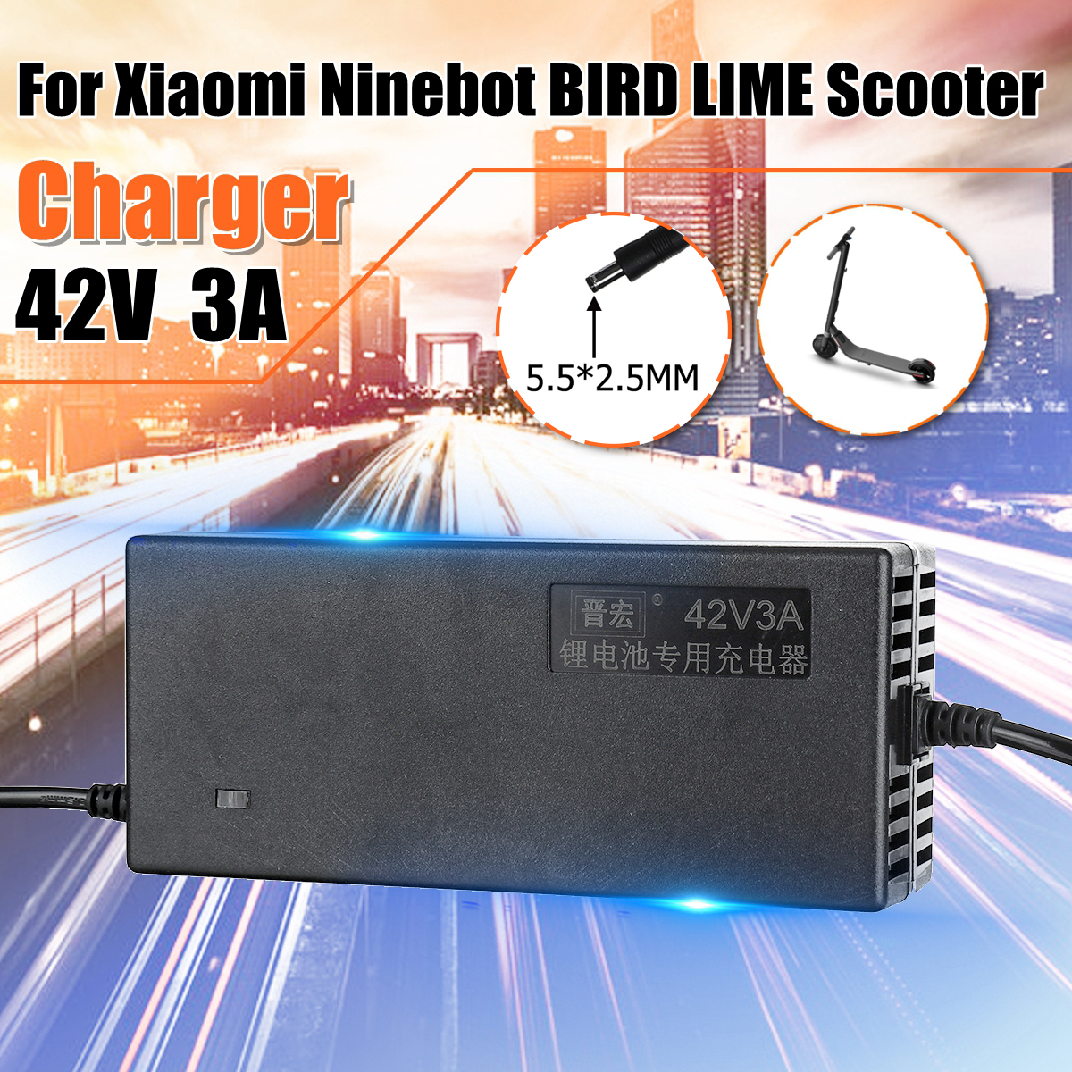 Seller*Charger 2-Amp BIRD LIME Xiaomi Mijia M365 Electric Scooter DEAL *U.S