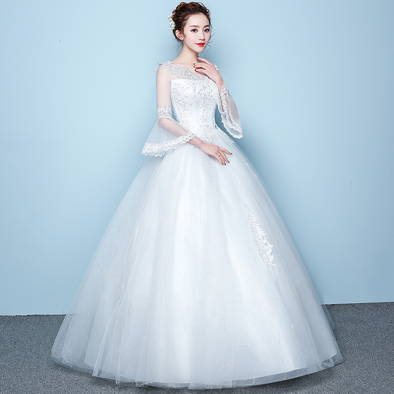 AIJINGYU 2018 Gowns Free Shipping New Hot Selling Cheap Ball Gown Lace Up Back Formal Bride Dresses Wedding Dress FU167