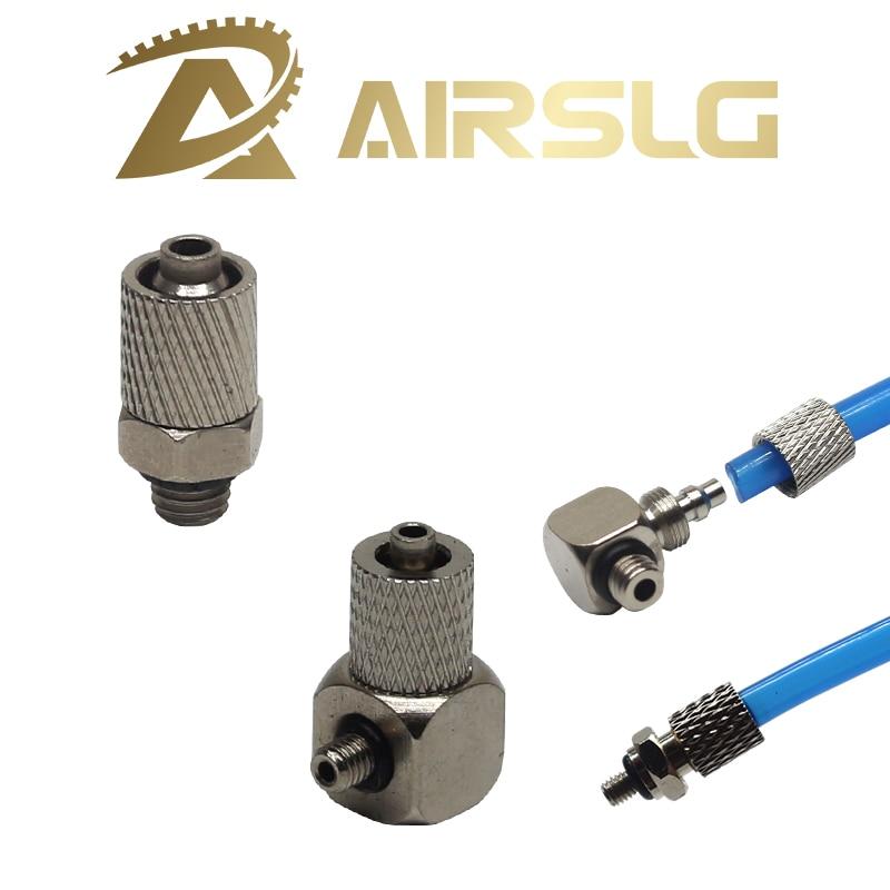 10Pcs raccords pneumatiques tuyau tube push fit connector 4mm uk vendeur