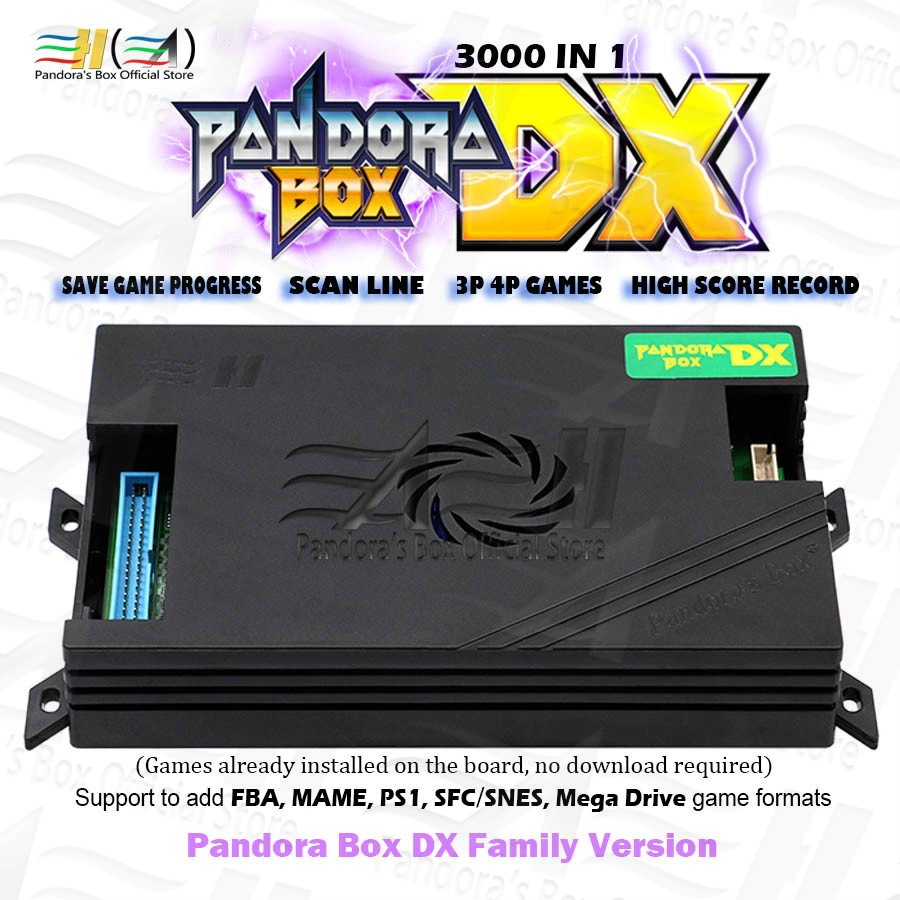2020 Original Pandora Box DX 3000 in 1 family version support 3P 4P game can save game progress High score record have 3D tekken(China)