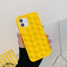 Relive Stress Pop Toys Push It Bubble Silicone Phone Case For Iphone 6 6s 7 8 Plus X XR XS 11 12 Pro Max Soft Cover