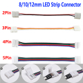5-100 шт. 2/3/4/5 Pin Светодиодные ленты Разъем для 8 мм 10 мм 12 мм 3528 5050 5630 RGB/RGBW IP20 не в комплект поставки одноцветной светодиодной ленты светильник д...