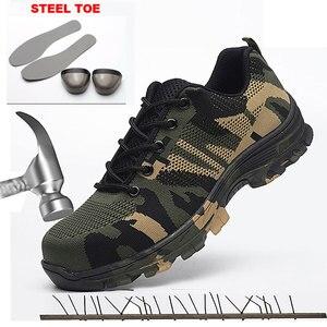 Image 4 - Puntura Prova di Scarpe Stivali Da Lavoro di sicurezza con Puntale In Acciaio Camo Mesh Traspirante Casual Scarpe di Lavoro Scarpe Da Ginnastica Mens