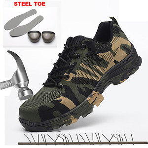 Image 4 - Safety Work Puncture Proof Shoes Boots with Steel Toe Cap Camo Breathable Mesh Casual Shoe Labor Sneakers Mens