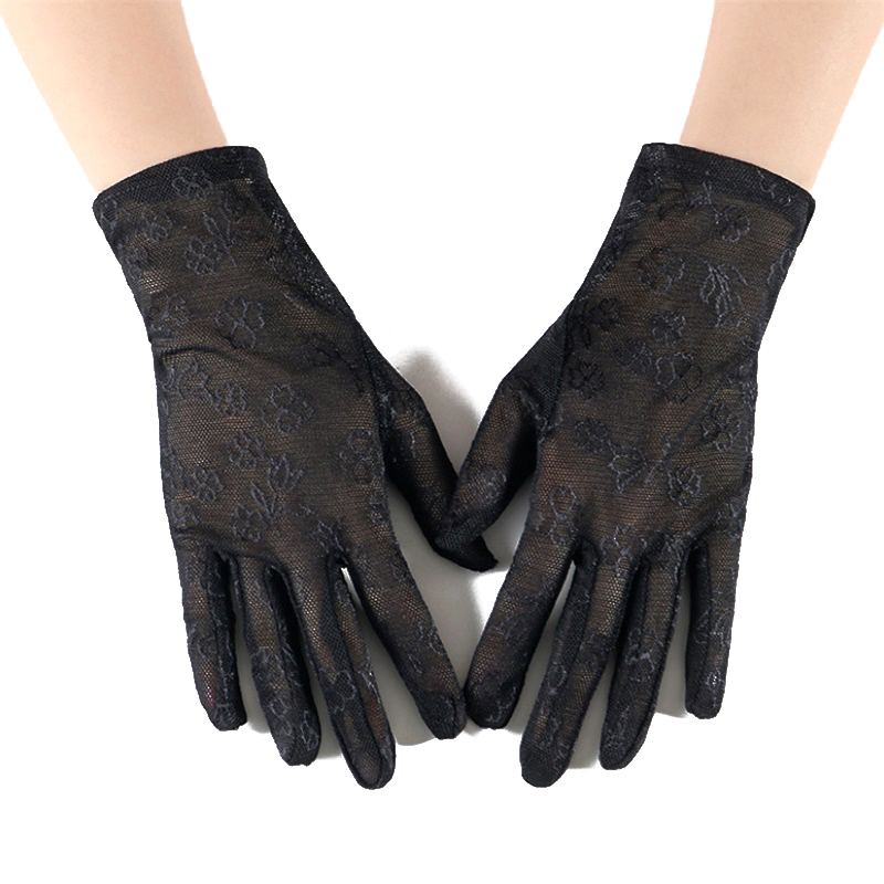 Women's Summer UV-Proof Driving Gloves Lace Gloves High Quality Lace Female Gloves Mittens Guantes Wholesale UV Sunsreen Gloves