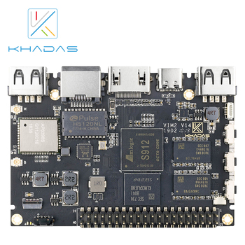 Khadas VIM2 Basic Powerful Single Board Computer Octa Core with MIMOx2 WiFi AP6356S WOL Amlogic S912 DIY Box