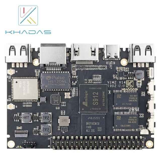 Khadas VIM2 الأساسية قوية لوحة كمبيوتر واحدة ثماني النواة مع MIMOx2 واي فاي AP6356S WOL Amlogic S912 لتقوم بها بنفسك صندوق
