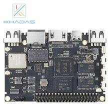 Khadas VIM2 기본 강력한 단일 보드 컴퓨터 Octa 코어 MIMOx2 와이파이 AP6356S WOL Amlogic S912 DIY 상자