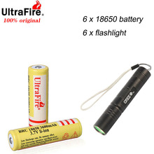 Оригинальный перезаряжаемый литий ионный аккумулятор UltraFire 18650 3,7 В, 3600 мАч, высококачественный литиевый фонарик в подарок для игрушек