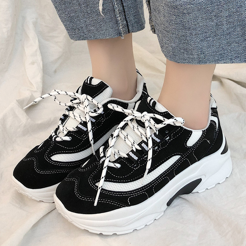 New Brand Lady Running Shoes 2020 Spring Breathable Sneakers Shoes Women Flats Platform Sports Shoes Flat Female E14-47