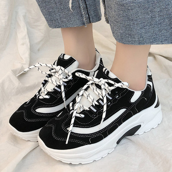 Nueva marca de zapatos para correr de primavera 2020, zapatillas deportivas transpirables para mujer, zapatos planos de plataforma deportiva para E14-47