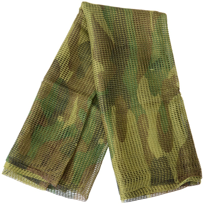 190x90Cm Scarf Cotton Camouflage Mesh Scarf Sniper Face Scarf Veil Camping Hunting Multi Purpose Hiking Scarf