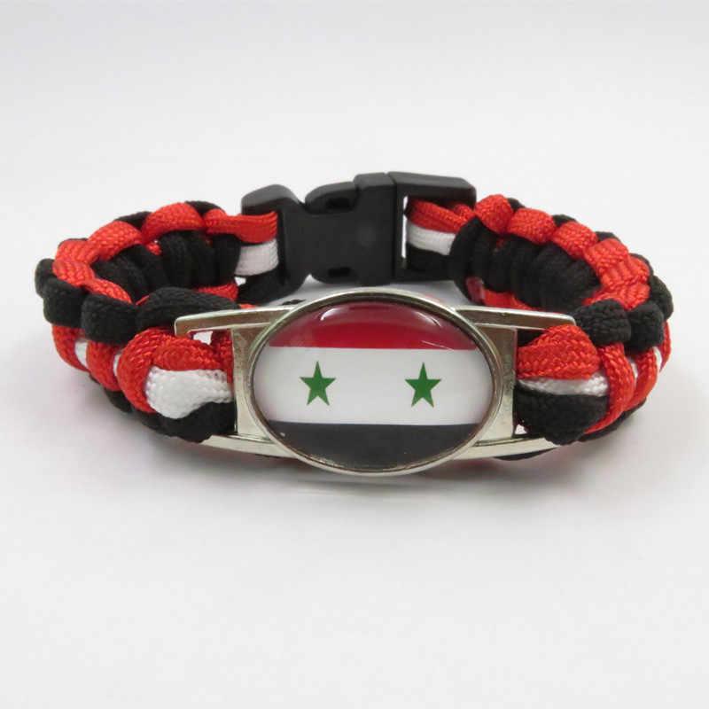 無限の愛シリア国ブレスレット手作りシリアロープバングルファッションシリアブレスレットシリア旗