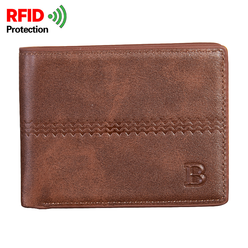 Fashion Short Wallet For Male 2 Fold Dollar Wallets Brief Cash Pocket Small Coin Purse PU Leather Men Credit Card Holders Purse