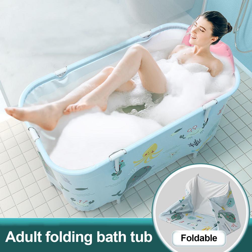 Banheira exterior não inflável portátil do agregado familiar da banheira de dobramento para adultos e crianças-0