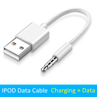 Cable convertidor de 3,5 a USB 2,0, Conector de 0,1 m, Cable de datos de cargador de 3,5mm para Apple iPod Shuffle 4th, 5th, 6th, 7th, Jack a USB