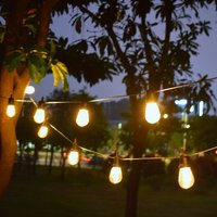 Solar Bulb Light String Solar Outdoor Decorative Light String Portable Solar Garden Waterproof Light