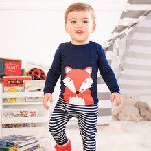 SAILEROAD Children's pajamas Set Cartoon Dinosaur P