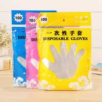 100 Pcs Eco-friendly Disposable Gloves Garden Household Restaurant BBQ Clear Multi-functional Gloves Food Grade plastic gloves