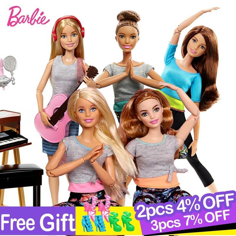 Bonecas barbie originais 22 articulações mover com acessórios de roupas príncipes aniversário bonecas presente do bebê brinquedos para crianças bonecas