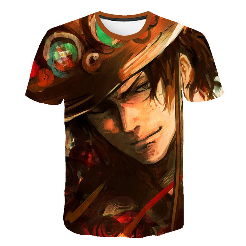 2019 new Breathable Mesh Cloth ONE PIECE Comic Series 3d T Shirt Luffy Tshirt Women Men Boys Kids ONE PIECE T-shirt Cartoon image