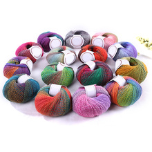 New Arrival 50g Chunky Baby Wool Ball Rainbow Colorful Knitting Crochet Yarn Craft for Sewing DIY Cloth Accessories