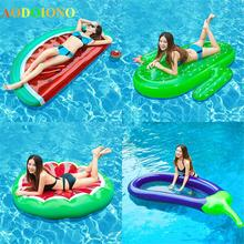 Floats Pineapple Flamingo Unicorn Inflatable Watermelon Swimming-Ring Party Giant Children