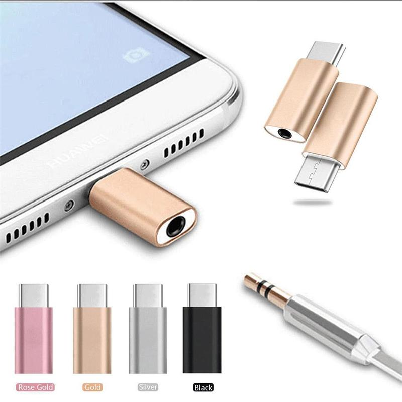 Universal USB Type-C Female To Male 3.5mm AUX Jack Earphones Headset Speaker Audio Adapter For Samsung Huawei Xiaomi Connector