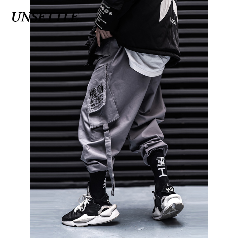 UNSETTLE Japan 2019 Pockets Cargo Pants Men/Women Casual Jogger Fashion Tactical Trousers Tide Harajuku Streetwear