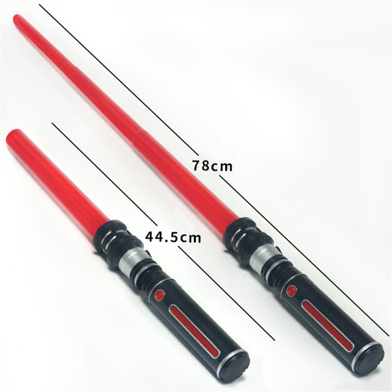 New Telescopic Lightsaber Toys Flashing Sword Cosplay Luminous Music Star Laser Toy Swords Kids Toy Boys Gift  Q6PD