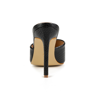 Image 5 - Pzilae 2020 yeni kadın sandalet kare ayak ince yüksek topuk terlik moda kadınlar üzerinde kayma slaytlar yaz plaj ayakkabısı katır boyutu 42