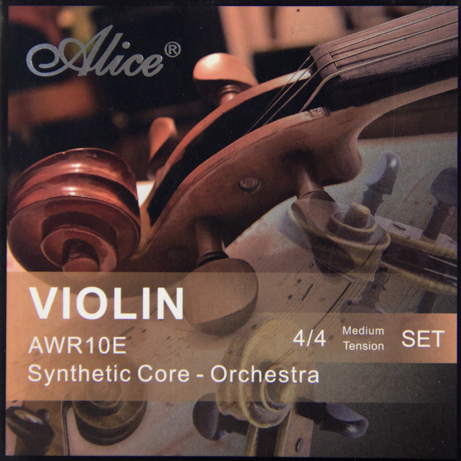 NEW  High Quality Alice Violin Strings  AWR10E Synthetic Core-Orchestra 4/4 Meddium Tension Set