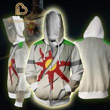 Game Dark Souls Cosplay Hoodies Halloween Party Costumes 3D Fashion Men Women Zipper Hooded Sweatshirts