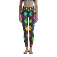 Женские штаны для йоги с принтом высокая талия спортивные Леггинсы