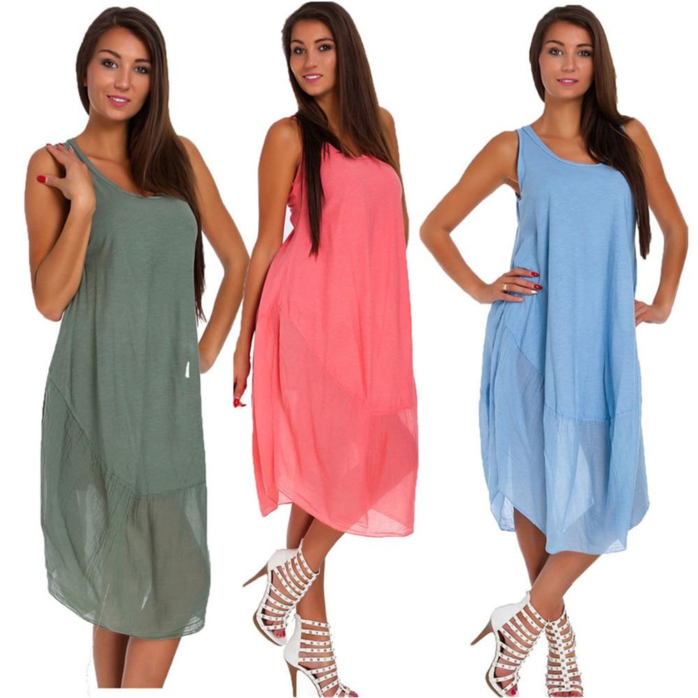 Aragaki Summer Dress Women 2020 Fashion Casual Dress Sleeveless Irregular Mini Dress Plus Size Dresses Vestidos AK0198
