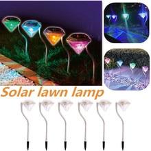 4Pcs Diamonds Stainless Steel Solar Lawn Light for Garden Decorative 100% Power Outdoor Lamp