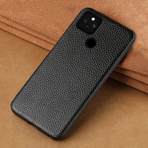 Phone Cover Case For Google Pixel 5 Pixel 4 Pixel 4A Pixel 4A 2020 5G Genuine Litchi Grain Leather 360 Full Protective Cover