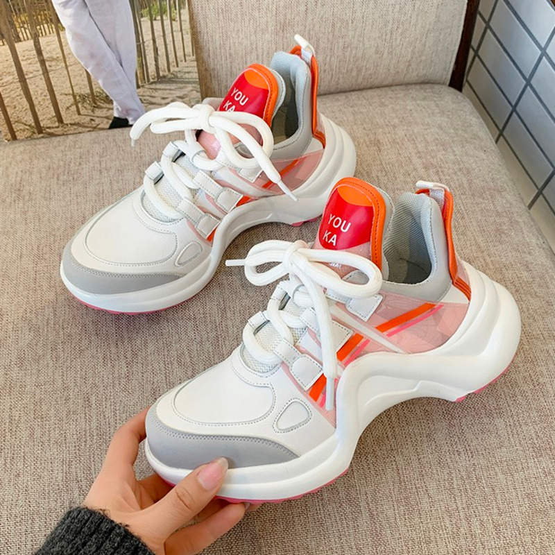 2020 Women Platform Sneakers Designers Brand Fashion Leather Woman Chunky Sneaker Ladies Old Dad Casual Shoes Vulcanized Shoes